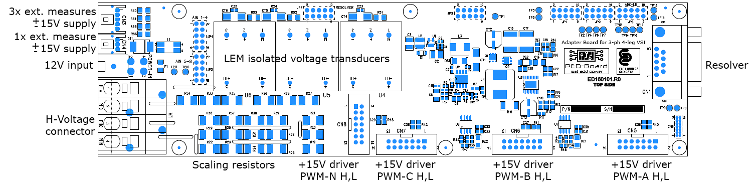 Adapter Board for 3-ph 4-leg VSI